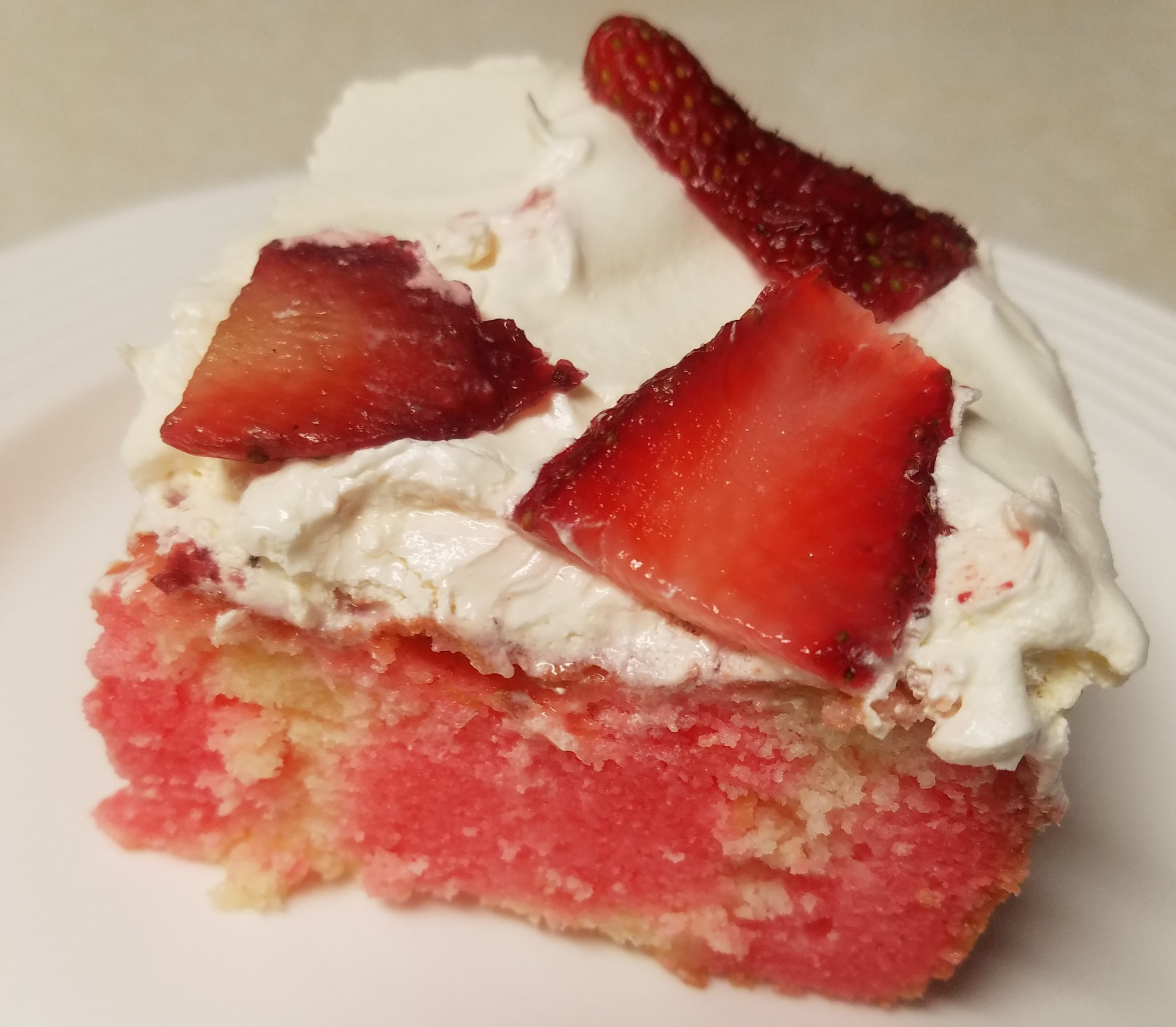 Gluten Free Strawberry Poke Cake